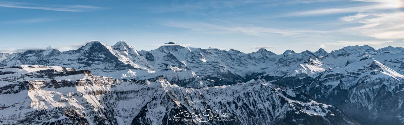 Elite Flights, Luftaufnahmen, Karin Gubler, Eiger, Mönch, Jungfrau, Fotoflug