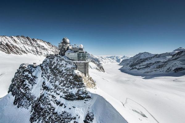Elite Flights, Alpenrundflug mit Gletscherlandung, Helikopterflug,  Gletscherflug, Gletscherapéro, Top of Europe, Aletschgletscher, Jungfraujoch