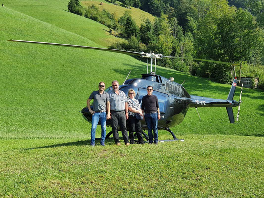 Elite Flights, Bell 206 Jet Ranger, HB-ZPZ, Luzern-Beromünster, Burezvieriflug, Helikopterflug, Schwanden NW