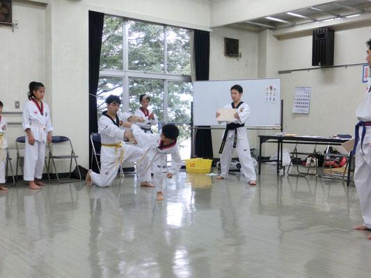 韓国文化交流イベント テコンドー演武