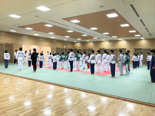 日韓親善テコンドー文化交流会 合同練習