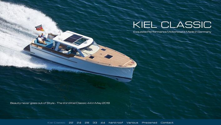 Webdesign Motoryacht, Boote