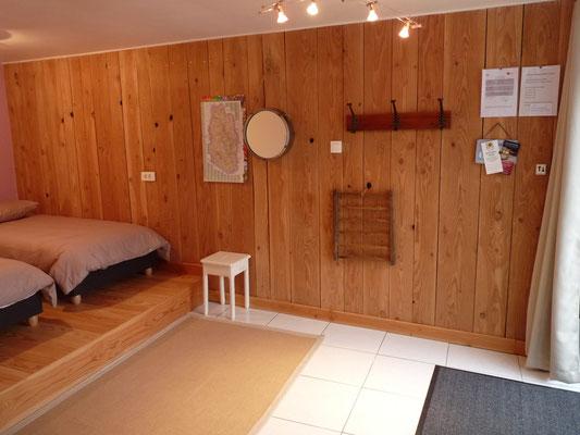le bois rend cet espace chaleureux