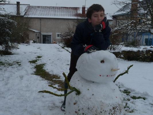 Le bonhomme de neige de janvier 2015.