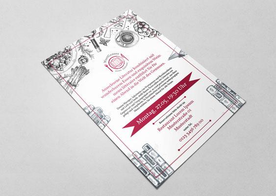 Gestaltung, Design, Designerin, Werbung, Printdesign, Flyer, Werbung, Werbematerial