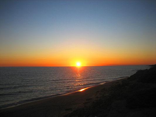 "Sonnenuntergang am ""Haus-Strand"" :-)"