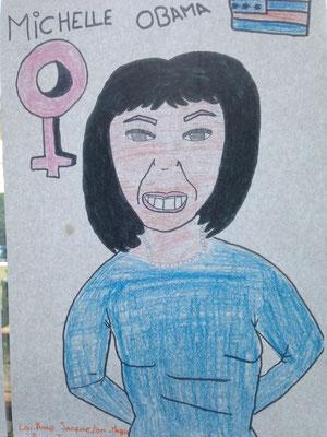 Le charisme de Michelle Obama mis en avant dans un dessin de Lou-Anne