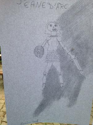 Une Jeanne d'arc combative dans un dessin d'Axel