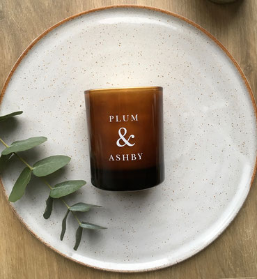Plum & Ashby natural candle wild figg and saffron