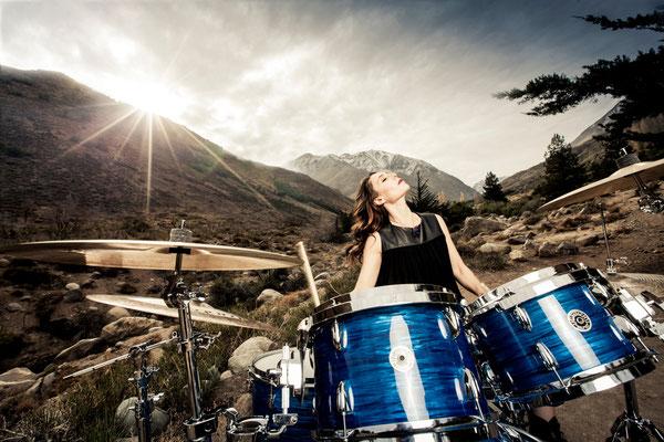 Juanita Parra, drummer of the band Los Jaivas. Paula Magazine