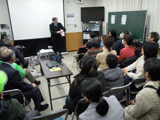 富田先生の講演、手品の始まりです