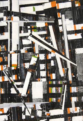UE 97, ohne Jahr, Collage. 42,5 x 29,2cm
