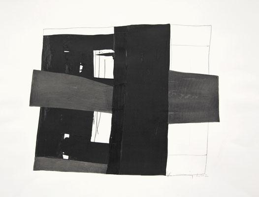 Ohne Titel, 2012  Bleistift, Gouache auf Papier  50 x 60cm