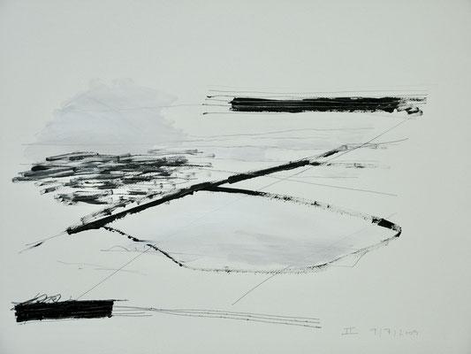 II, 2009    Acryl, Bleistift/Papier