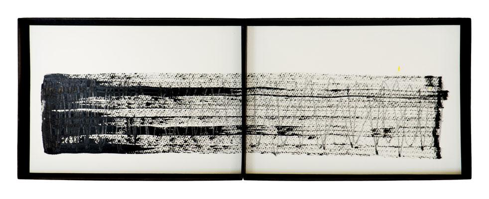 UE 222 (zweiteilig), ohne Jahr.   Gouache, Bleift/ Papier   43 x 64cm