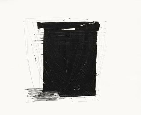 Ohne Titel, 2009  Bleistift, Gouache auf Papier  50 x 60cm