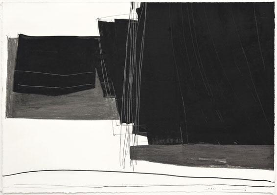Ohne Titel, 2012 Bleistift, Gouache auf Papier   31,5 x 60cm