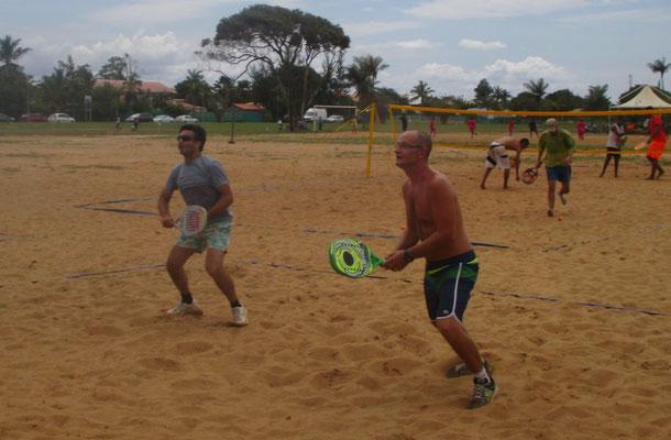 Christophe au Beach Tennis