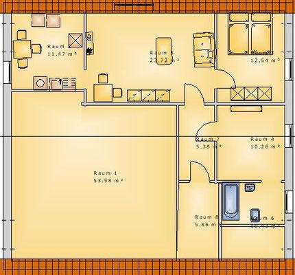 Grundriss Wohnung BE 2