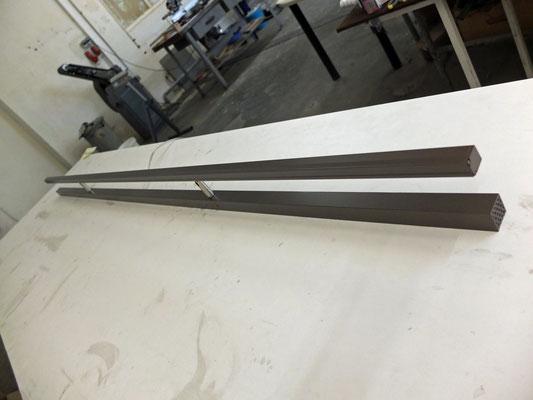 LED-Spiegelleuchte, Länge: 1800 mm, Eloxier Dunkelbraun, ca. 34W, 3200K