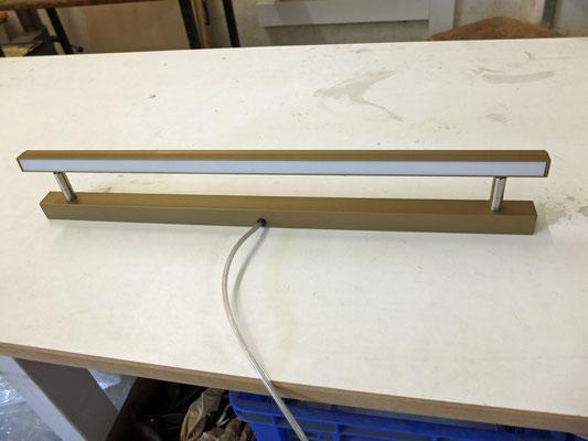 LED-Spiegelleuchte, Länge: 580 mm, Perlgold, ca. 11W, 3200K