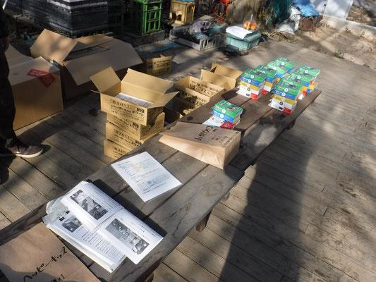 資材は製作ガイドを添えて参加店舗や協力企画のイベントに応じてパッケージングの後、配布されます。