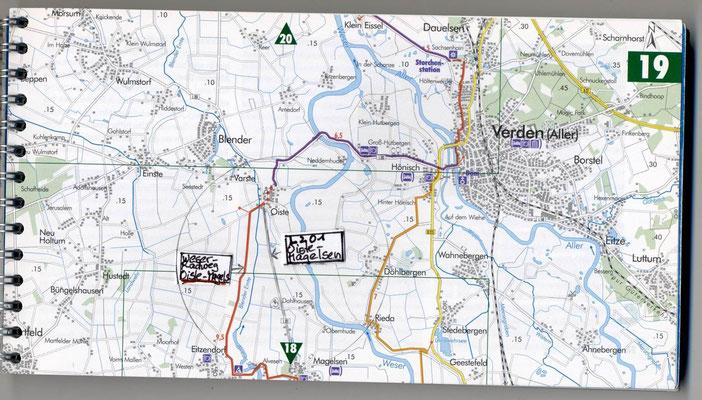 """Weser-Radweg zwischen Oiste und Magelsen (westlich von der L 201) vor der """"Qualitätsoffensive"""" 2013"""