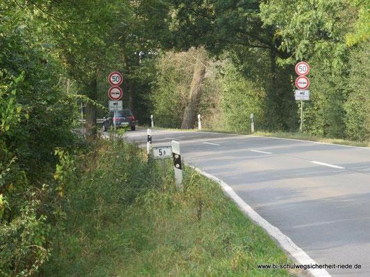 Weyhe-Ahausen an der L 331: Hier ist Tempo 50 möglich.