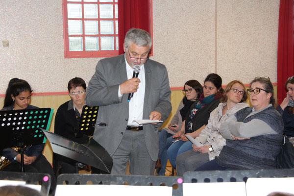 M. SAnnier président de l'harmonie de Blangy sur Bresle