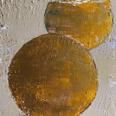 yellow 50x50x4,5 Acyl auf Leinwand