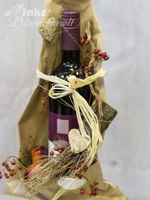 Blumen und Wein - Geschenkidee aus Inkes Blumenwelt