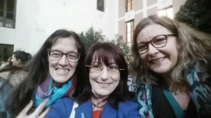 Marisel Lodeiro, Patricia Sabbatella y Gabriela Guaglione