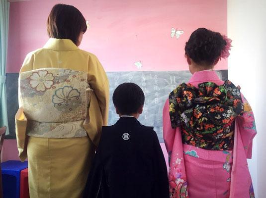 2015.11 嬉しい5歳七五三 お姉ちゃんとママと