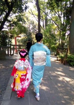 2015.10 7歳七五三のお嬢様とお母様