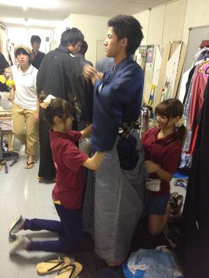 2014・8 演劇用 早着付け指導