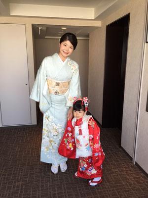 2015.10 七五三のお母様とお嬢様