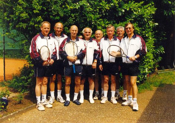 Seniorenmannschaft Herren 55 in den 90er Jahren