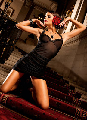 Lace Halter Kleid