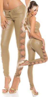 Legging mit Schleifen Beige