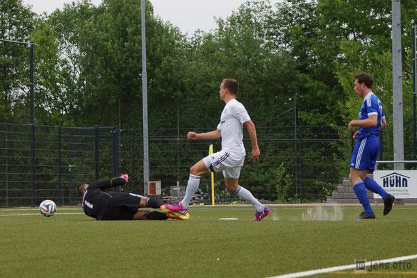 21. Minute: 1:0 für den FSV Schröck...