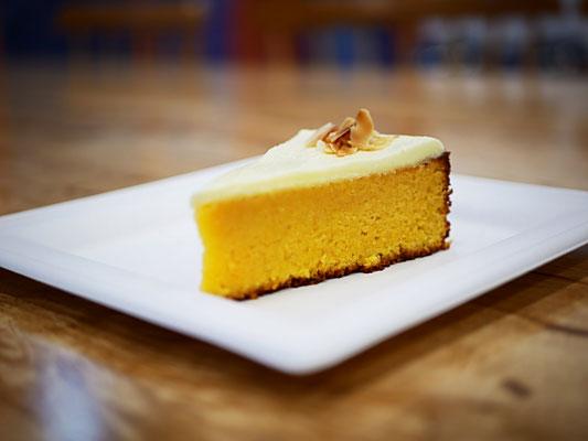 Gluten and sugar free carrot and orange cake