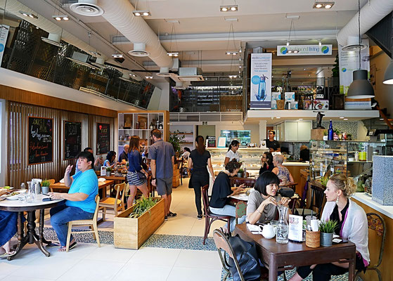 Interior of The Living Cafe Singapore