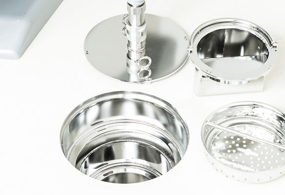 Drain incl. removable inner parts for operating theatres