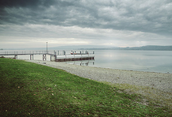 Stainless steel wavebreaker/Lake Constance