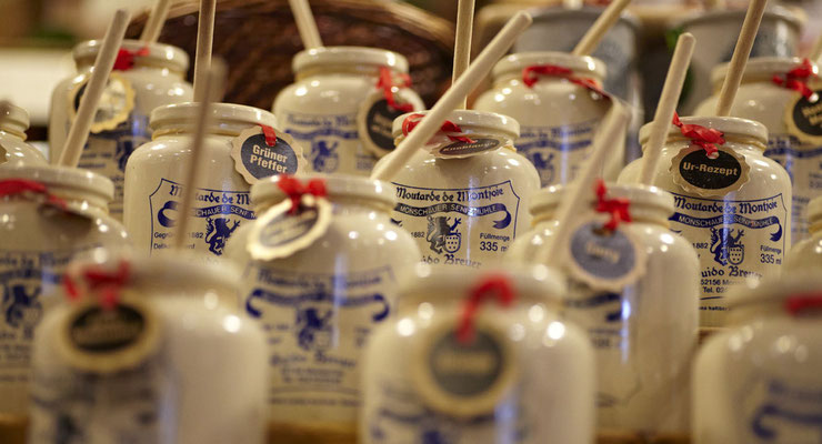 Ausgewählte Senfsorten von der Historischen Senfmühle Monschau