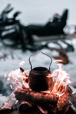 Warmer Kaffee auf der Tour