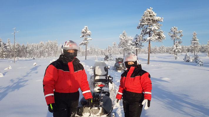 Schneemobiltour bei -25°C