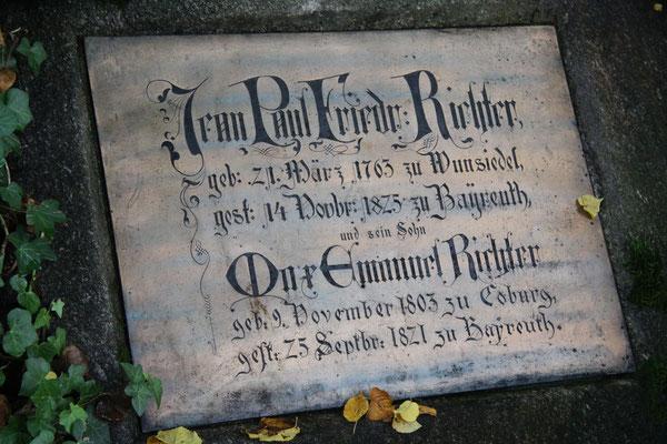 Grabplatte Jean Paul Friedrich Richter und Max Emanuel Richter