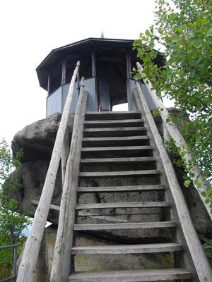 Großer Waldstein – Aufgang zum Aussichtspavillon auf der »Schüssel«