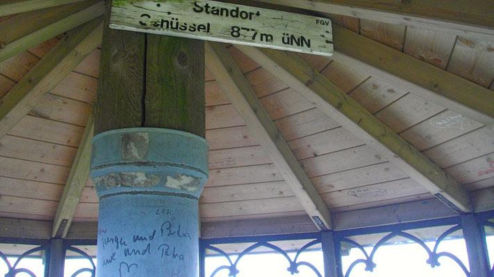 Großer Waldstein – Aussichtspavillon auf der »Schüssel«